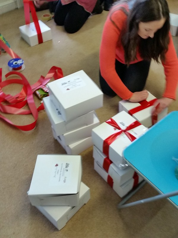 Serve the City Ireland Valentine's Day care box packing and gift delivery. #volunteering #randomactsofkindness