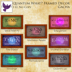 [ free bird ] Quantum What Framed Decor Gacha