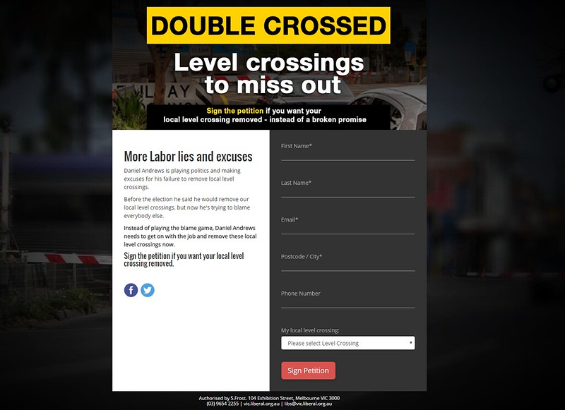 Double Crossed web site, mid-2015