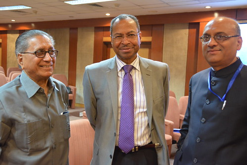 Former ICAR director (left) with Jimmy Smith and Alok Jha (right)