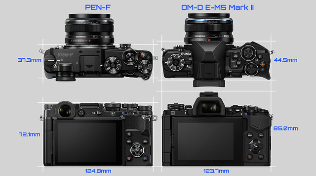 20160213_03_OLYMPUS PEN-F & OM-D E-M5 Mark II Side-by-side comparison