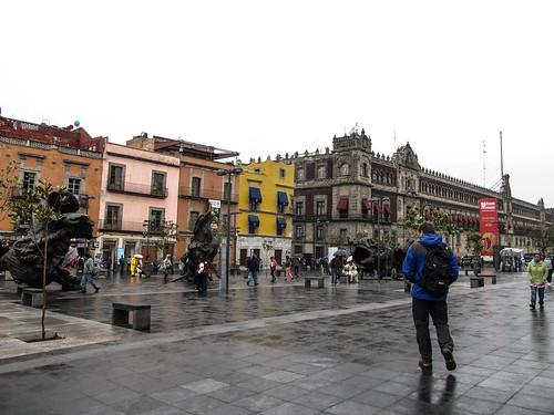 Mexico City: le Zócalo (ou Plaza de la Constitución)