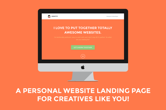 Creativemarket Identity Personal Site Landing Page