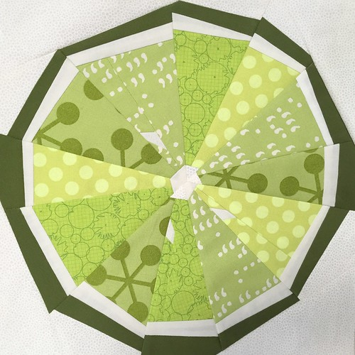 Citrus Slice Paper Piece Pattern - Lime