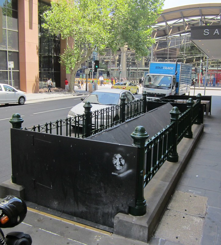 Old subway entrance to Southern Cross Station, Little Collins Street