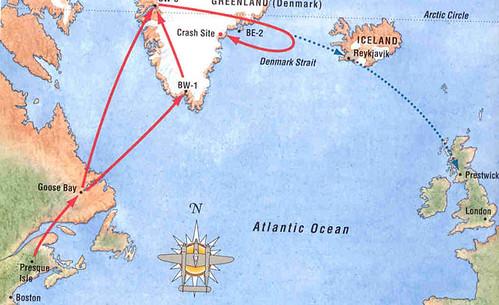 Mapa Glacier Girl