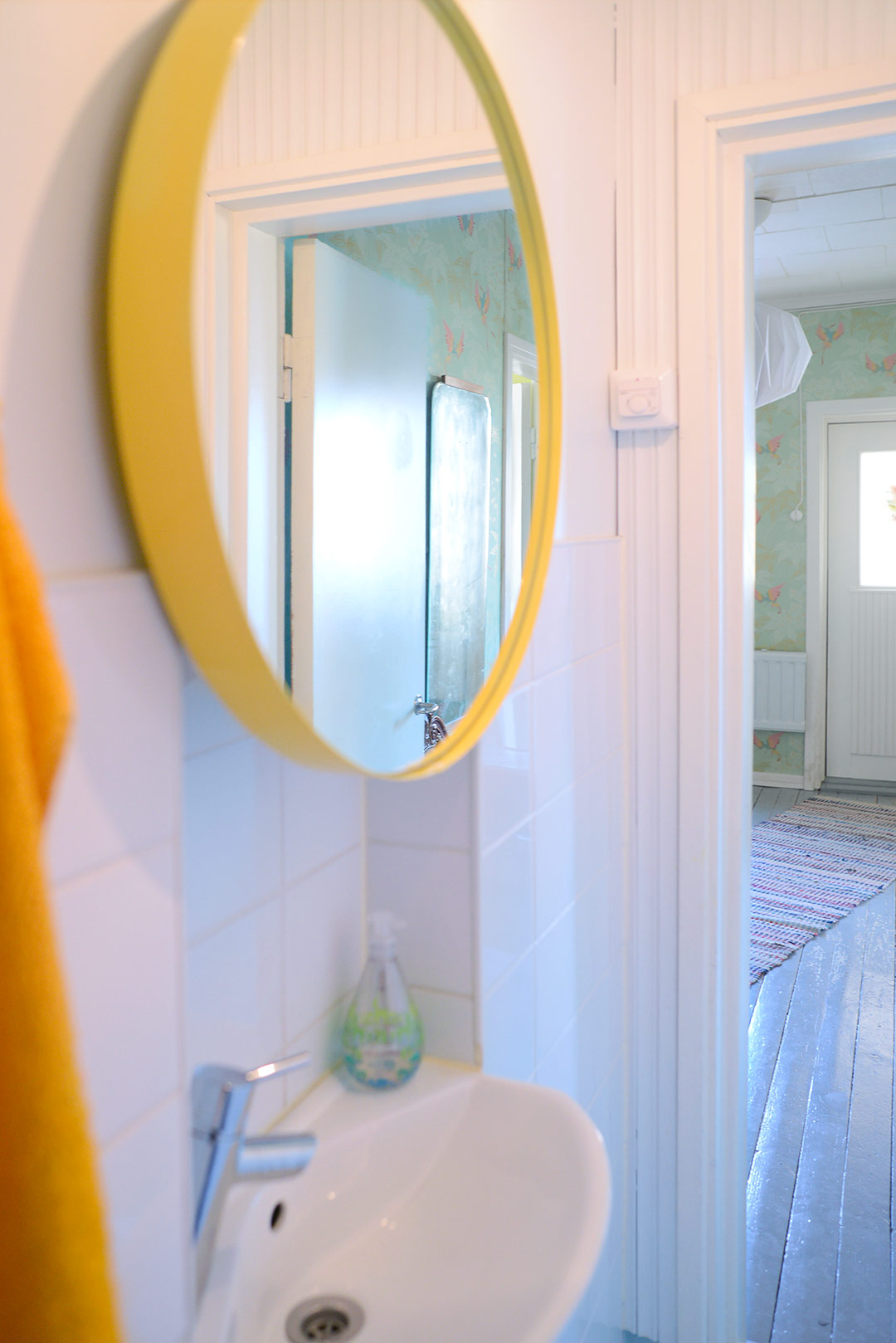 Yellow Jenny mirror cabinet by Svedbergs