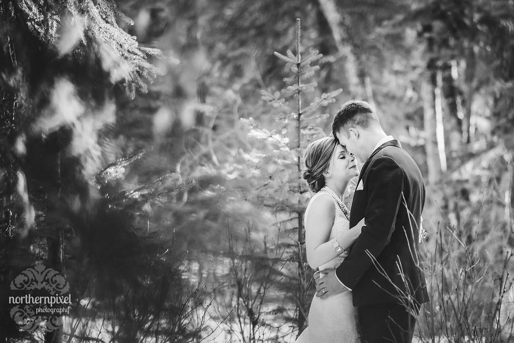 Newlywed Couple - Prince George BC Wedding Photographer