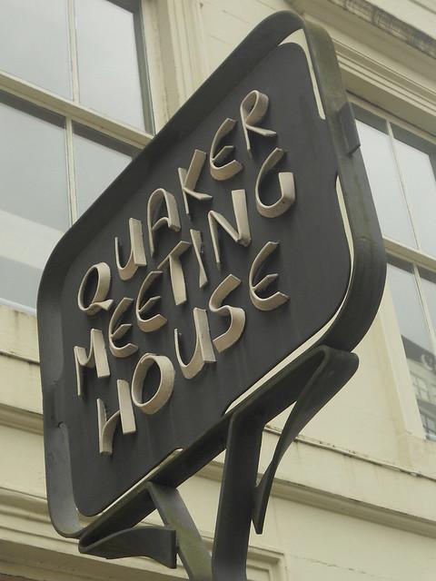 quaker meeting house sign