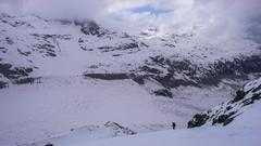 Zjazd z Isla Parsa na lodowiec Morteratsh