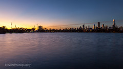 Sunset over Albert Park Lake