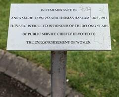 MEMORIAL - ANNA HASLAM AND THOMAS HASLAM [STEPHEN'S GREEN]-113716