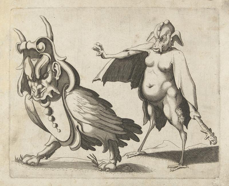 Arent van Bolten - Grotesque Creatures 5, 1604-1616