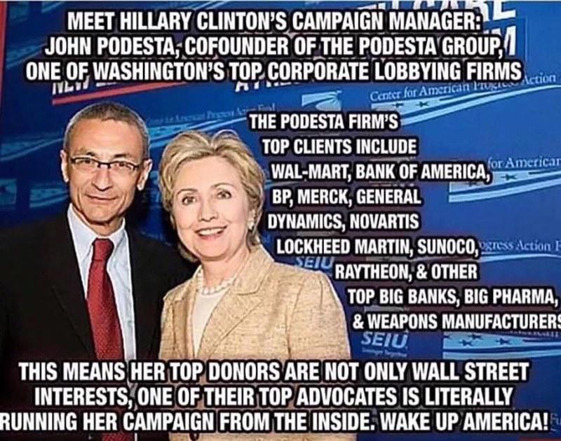 Hillary Podesta campaign corporate
