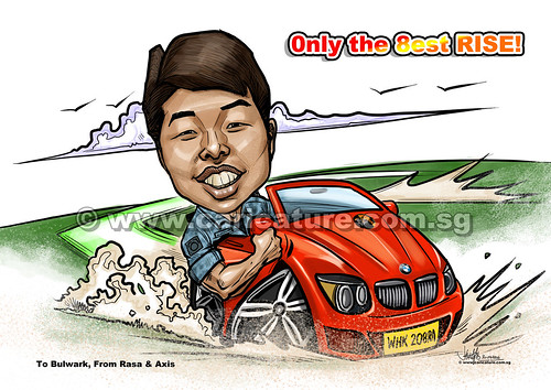 digital caricature on convertible BMW for Singapore AirForce  (watermarked)