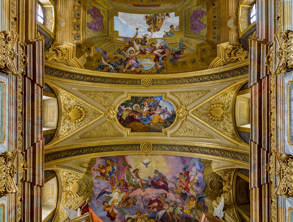 Jesuit Church, Dr.-Ignaz-Seipel-Platz, Vienna, Frescoes by Andrea Pozzo during his time in Vienna (1702-1709). Credit Uoaei1