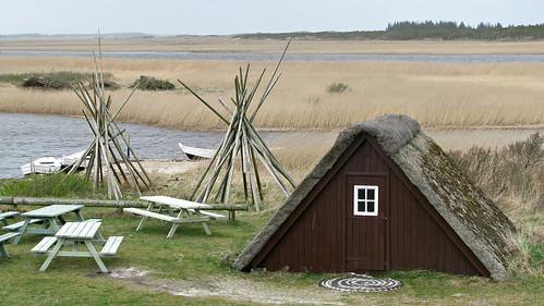 Fishermen's huts, Nymindegab, Jutland