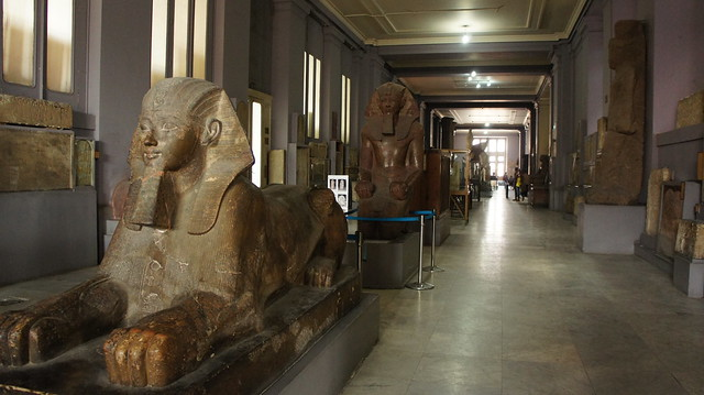 The Sphinx inside the Egyptian Museum of Cairo