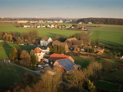Luftbilder von Holthausen in der Abendsonne
