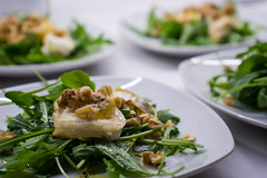 Goat Cheese with Arugula and Honey