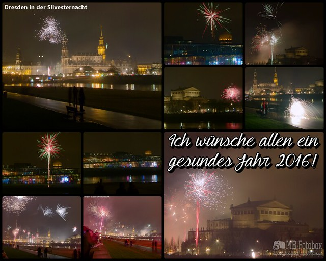 Dresden in der Silvesternacht