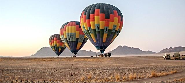 Heißluftballons im Namib Naukluft Park
