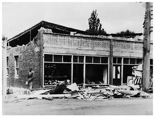 1931 Hawkes Bay Earthquake - Baker and Pastrycook shop, Waipawa