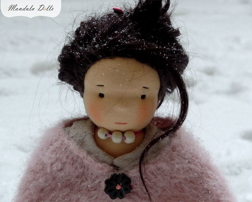 Liza 35cm waldorf style doll with weft mohair hair_4