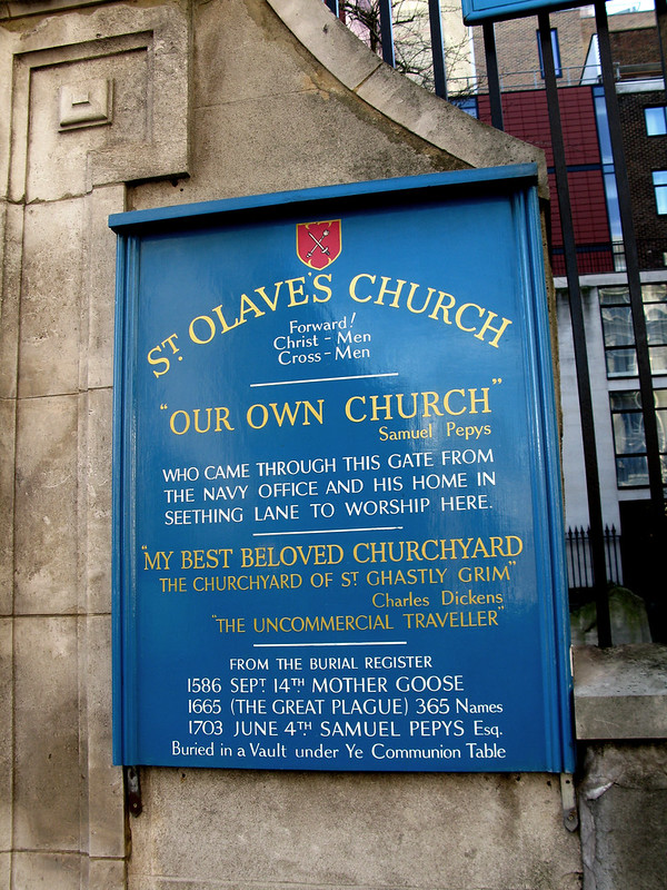 St. Olave's Church sign