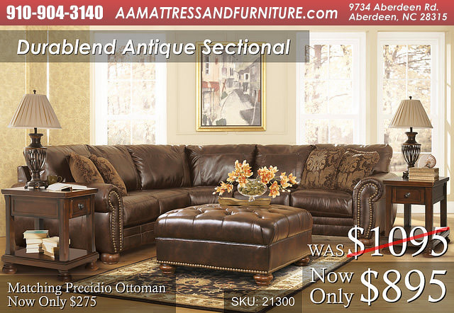 Durablend Antique Sectional WM