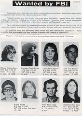 Weather Underground wanted by the FBI # 1: 1972 ca.