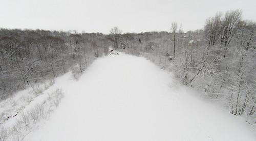 Winter Pond Aerial Photo
