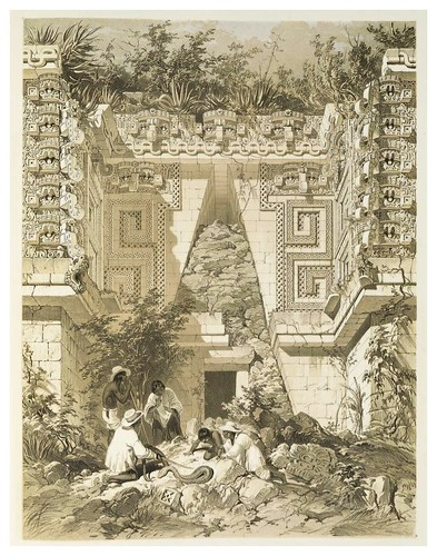 004-Casa del gobernador en Uxmal-Views of ancient monuments in Central America…1844- F. Catherwood