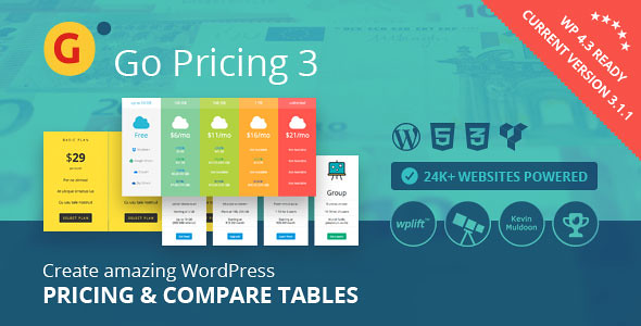 Go Pricing - WordPress Responsive Pricing Tables v3.2