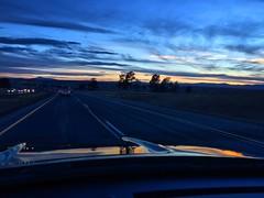 Leaving Denver Airport At Sunset
