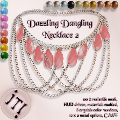 !IT! -  Dazzling Dangling Necklace 2 Image