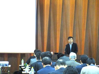 At Vietnam textile and garment seminar in Osaka