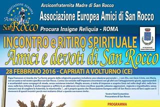 Noicattaro. Incontro San Rocco front