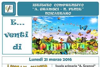 Noicattaro. Eventi di Primavera Gramsci-Pende front