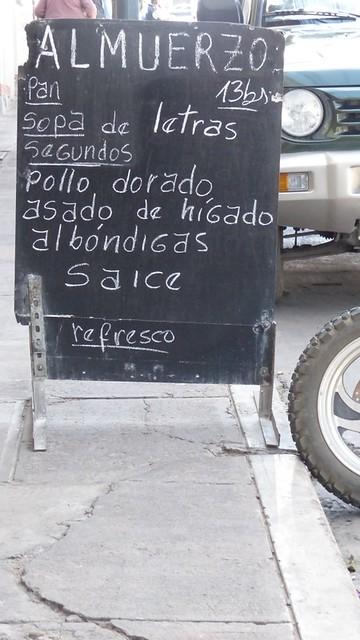 L'almuerzo, une institution pour manger le midi