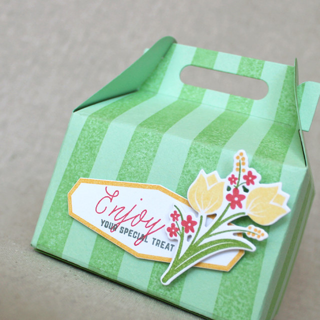 Enjoy Bouquet Treat Box Close Up