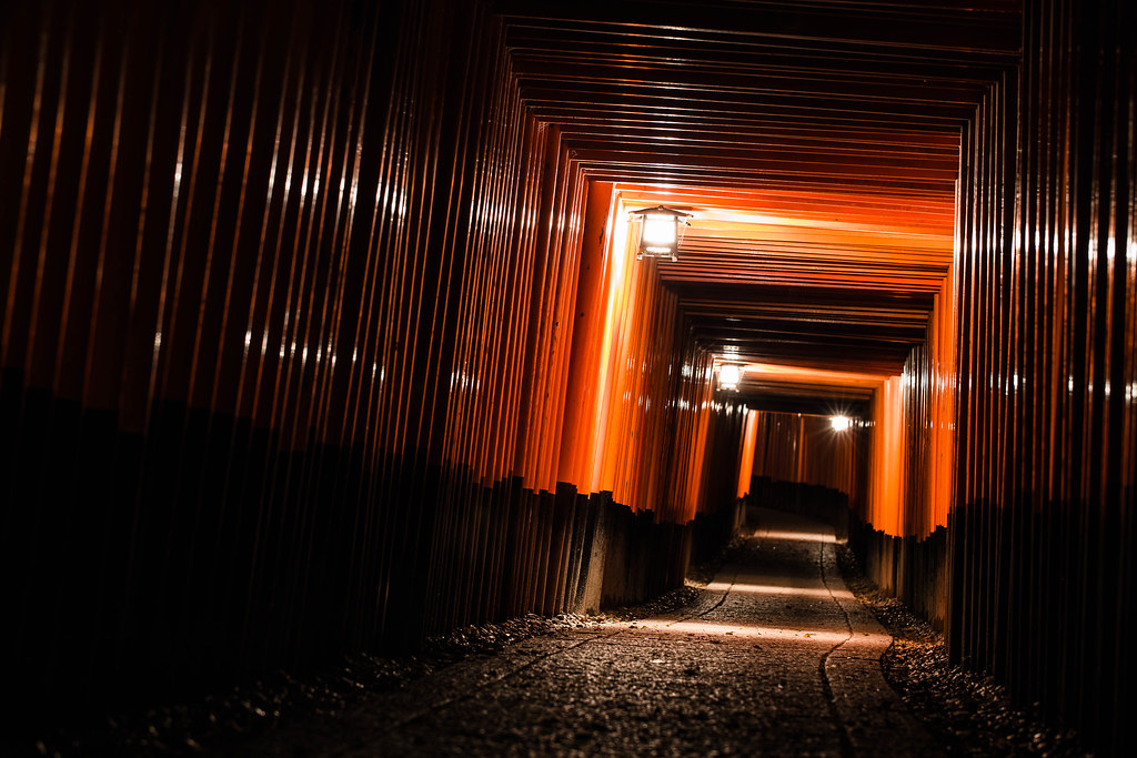 Night scene of Fushimi Inari Taisha