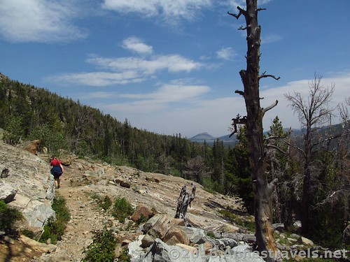 The trail below Stough Creek Pass, Wind River Range, Wyoming