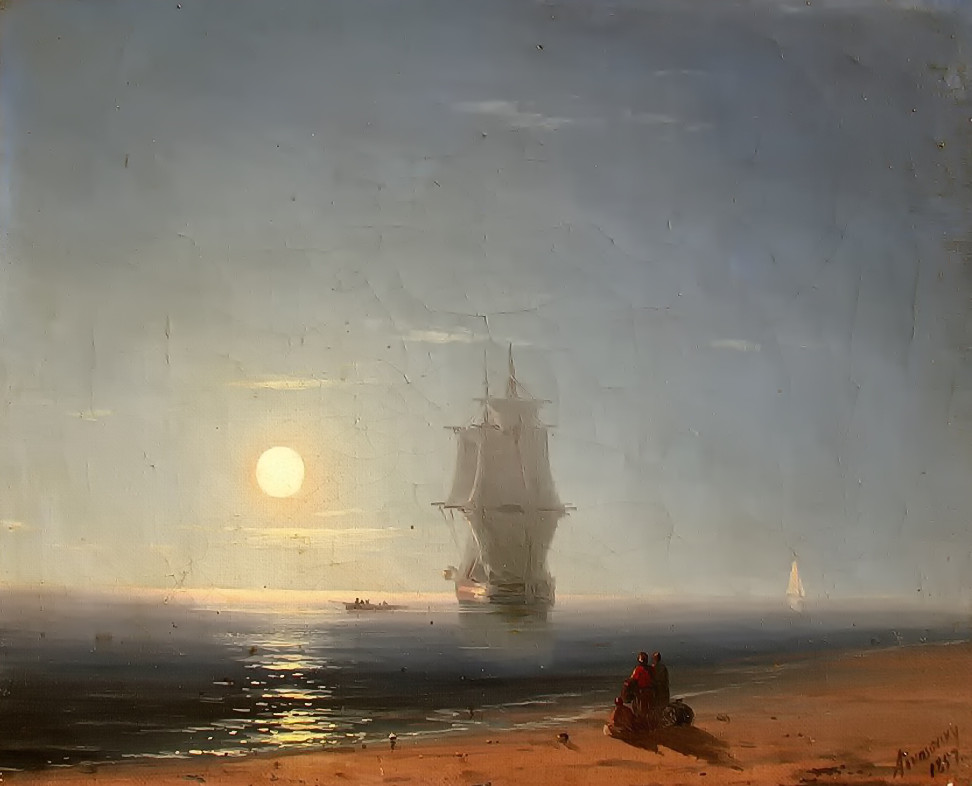 Lunar night by Ivan Aivazovsky, 1857