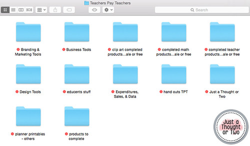 Organizing Your Computer Files for TPT: Main TPT Categories