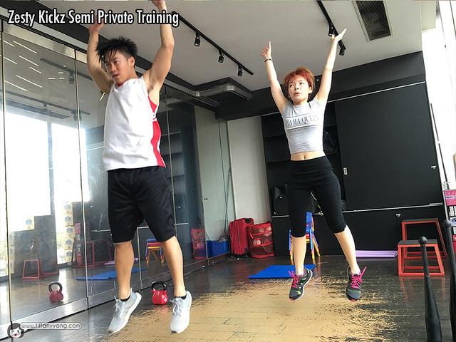 Tiffany Yong Eden Ang Training