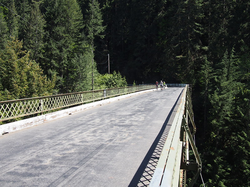 Riders Enjoying the Scenery: On the Fairfax Bridge.