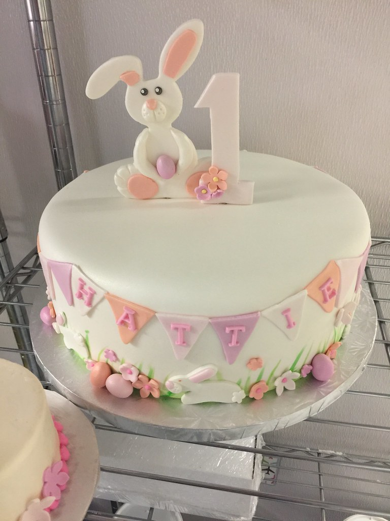 Bunny 1st Birthday Cakes Rose Bakes Collection Easter Bunny