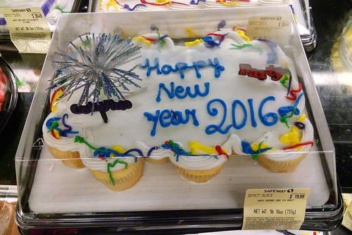 Happy New Year 2016 Cake