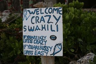 Crazy Swahili beach bar, Jambiani